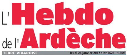 Nouvel article dans l'Hebdo de l'Ardèche