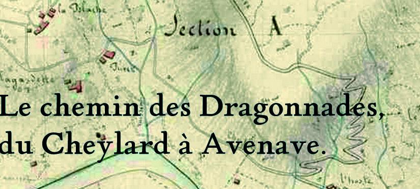 Le chemin des Dragonnades retrouvé entre Le Cheylard et Saint Agrève.